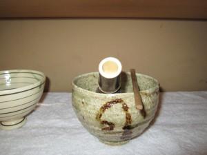 1月お茶碗早蕨信楽